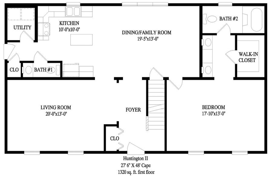 Huntington ii a 2408 square foot cape floor plan for Express modular pricing