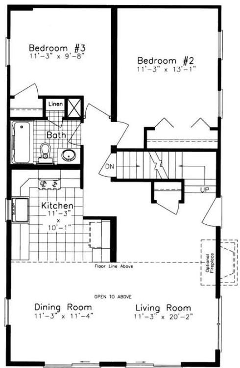 Cedarbrooke i nna 2055 square foot cape floor plan for Express modular pricing