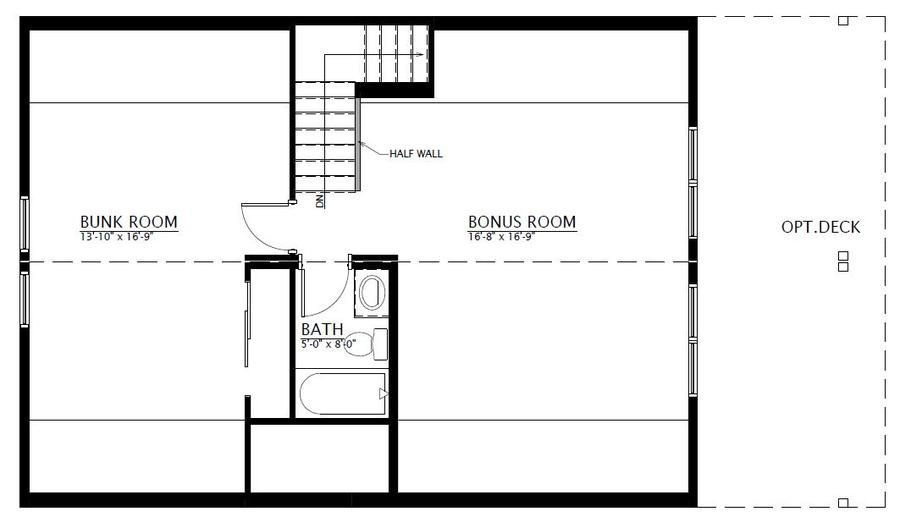 Bunkhouse two story ihu 038 1566 square foot two Bunkhouse floor plans