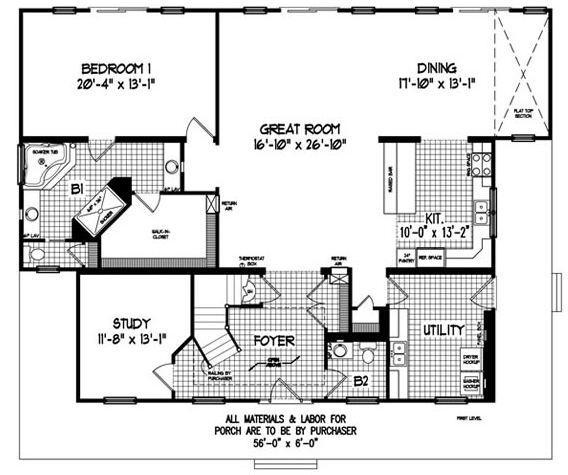 2950 Square Foot Cape Floor Plan