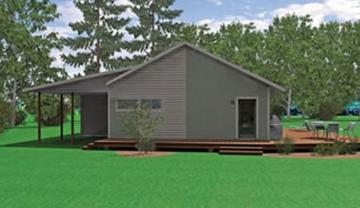 Zero ii 1106 square foot ranch floor plan for Express modular pricing