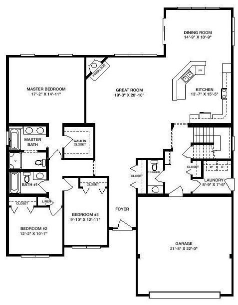 Providence 2140 square foot ranch floor plan for Express modular pricing