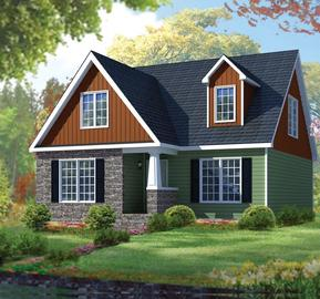 Barclay 1315 square foot cape floor plan for Express modular pricing